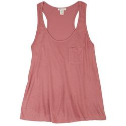 Juniors Pocketed Tank Top