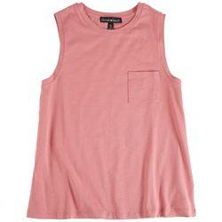 Derek Heart Juniors Solid Sleevless Top With Pocket