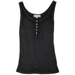No Comment Juniors Ribbed Sleeveless Top