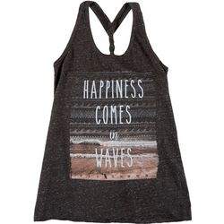 FloGrown Juniors Happiness Braided Racerback Tank Top