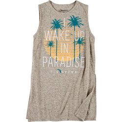FloGrown Juniors Sleeveless Paradise Logo T-Shirt