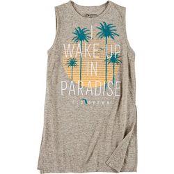 FloGrown Juniors Sleeveless Paradise Logo T-Shirt
