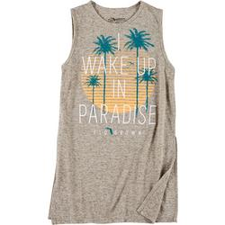 Juniors Sleeveless Paradise Logo T-Shirt