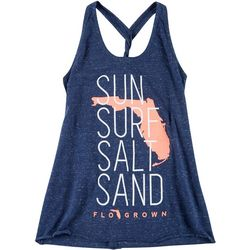FloGrown Juniors Sun Surf Braided Racerback Tank Top