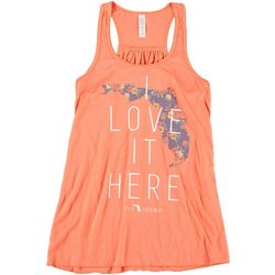FloGrown Juniors I Love It Here Racerback Tank