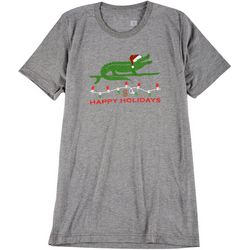 Sunshine State Womens Alligator Christmas T-Shirt