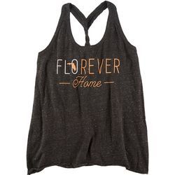 FloGrown Juniors Florever Home Braided Racerback Tank Top