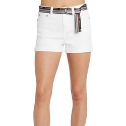 Dickies Juniors Solid Belted Roll Cuff Shorts