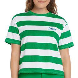 Dickies Juniors Tomboy Stripe Logo Cropped T-Shirt