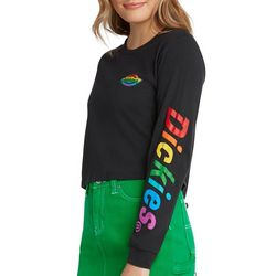 Dickies Juniors Rainbow Logo Cropped Long Sleeve T-Shirt