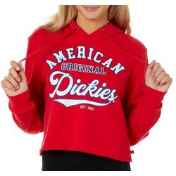 Juniors Cropped American Orginial Hooded Jacket
