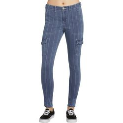Dickies Girl Juniors Slim Fit Striped Cargo Pants