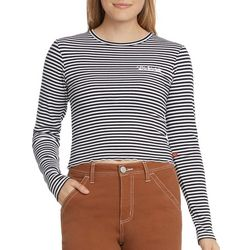 Dickies Juniors Striped Cropped Long Sleeve T-Shirt