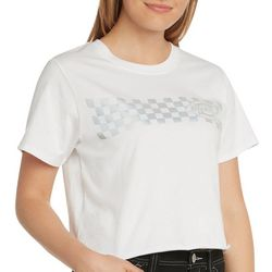 Dickies Juniors Checkered Logo Cropped T-Shirt