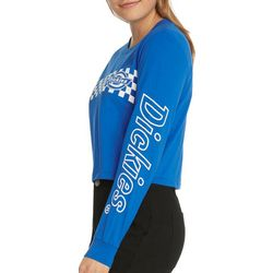 Dickies Juniors Logo Screen Cropped Long Sleeve T-Shirt