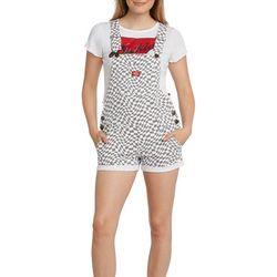 Dickies Girl Juniors Checkered Swirl Shortalls