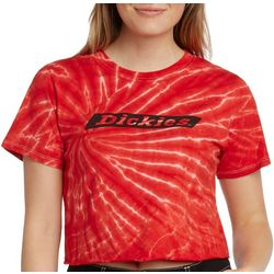 Dickies Girl Juniors Tie Dye Cropped T-Shirt