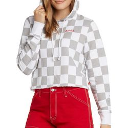 Dickies Girl Juniors Checker Cropped Pullover Hoodie