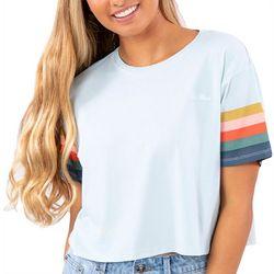 Rip Curl Juniors Logo Rainbow Sleeved T-Shirt