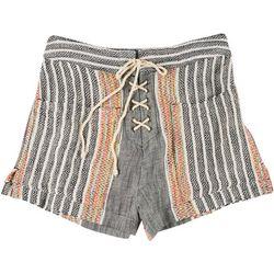 Rip Curl Juniors Daja Striped Lace Up Shorts