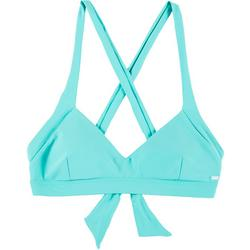 Solid Crisscross Full Support Bikini Top