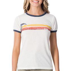 Rip Curl Juniors Last Wave Ringer T-Shirt