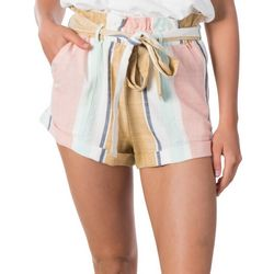 Juniors Sunsetters Stripe Shorts
