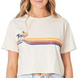 Rip Curl Juniors Square Fitting Sunset T-Shirt