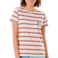 Rip Curl Juniors Cali Standard Striped Short Sleeve Top