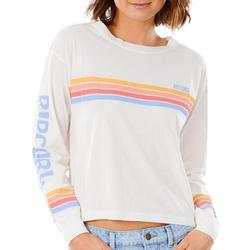Juniors Stripes Long Sleeve Top