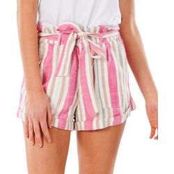 Rip Curl Juniors Paperbag Striped Soft Shorts