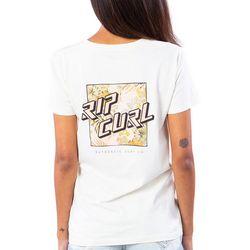 Rip Curl Juniors Logo Squared Print T-Shirt
