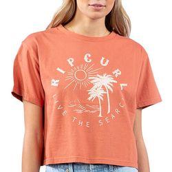 Rip Curl Juniors Front Graphic Print T-Shirt