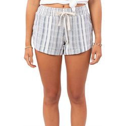 Rip Curl Juniors Montauk Striped Drawstring Shorts