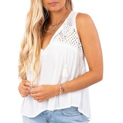 Rip Curl Juniors Holly Solid Crochet Detail Tank Top