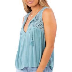 Juniors Holly Crochet Sleeveless Top