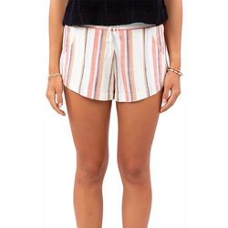 Rip Curl Juniors Striped Drawstring Shorts