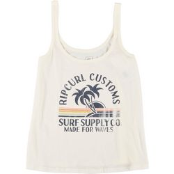 Rip Curl Juniors Surf Screen Print Logo Tank Top