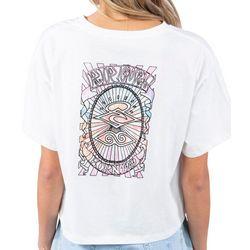Rip Curl Juniors Back Screen Print Crew T-Shirt