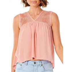Rip Curl Juniors Mesh Embroidered Top