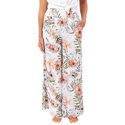 Juniors Playa Bianca Floral Print Pants