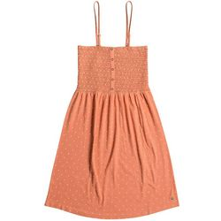 Roxy Juniors Summerland Party Shirred Bodice Strappy Dress