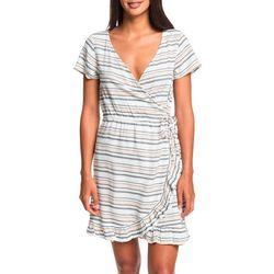 Roxy Juniors Sun Dreamer Season Striped Short Sleeve Dress