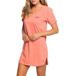 Roxy Juniors Pacific Groove Short Sleeve T-Shirt Dress
