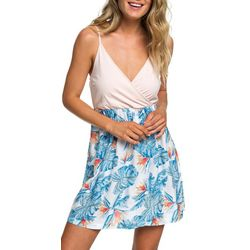 Roxy Juniors Palm Print Strappy Dress