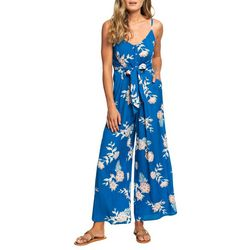 Roxy Juniors Wheel And Palms Strappy Wide-Leg Jumpsuit