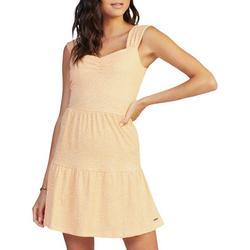Juniors Sweetheart Neck Printed Dress