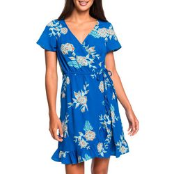 Roxy Juniors Sun Dreamer Season Floral Short Sleeve Dress
