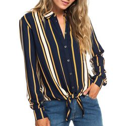 Roxy Juniors Suburb Vibes Tie Front Top