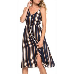 Roxy Juniors Sunset Beauty Striped Strappy Midi Dress
